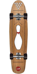 Cliche Striker Bamboo Cruiser - Brown/White - 7.75in x 31.3 - Complete Skateboard
