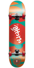 Cliche Elliptic - Red/Green- 7.7in - Complete Skateboard