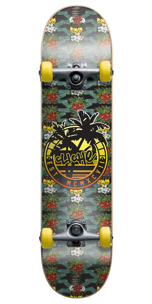 Cliche Floral Party - Floral - 7.7 - Complete Skateboard