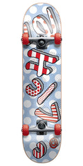 Cliche Blow Up - Red/White - 7.8 - Complete Skateboard
