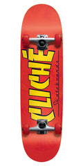 Cliche Blanco Direction - Red - 8.625in - Complete Skateboard