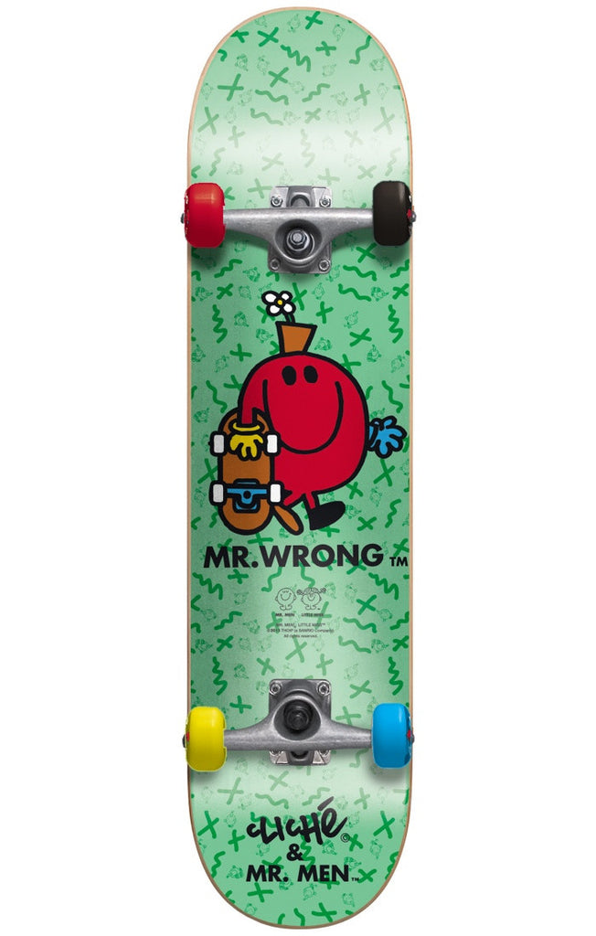 Cliche Mr. Wrong - Turquoise - 7.5in - Complete Skateboard