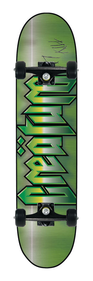 Creature Cold Steel Powerply Small - Green/Black - 7.7in x 31.2in - Complete Skateboard
