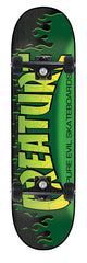 Creature The Bible Small - Green/Black - 8.0in x 31.6in - Complete Skateboard