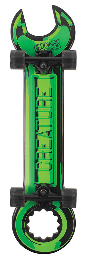Creature Wrench Cruzer - Green - 5.0in x 31.12in - Complete Skateboard