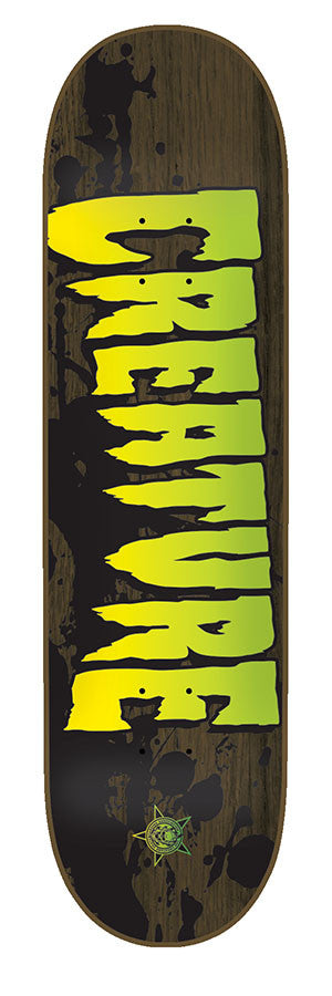 Creature Stained MD - Brown - 8.26in X 31.7in - Skateboard Deck