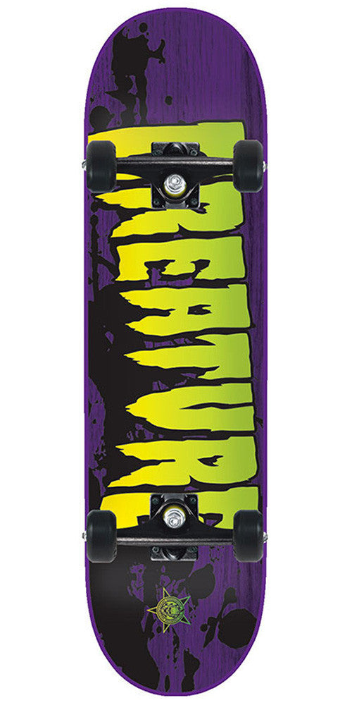 Creature Stained - Purple/Green - 8in x 31.6in - Complete Skateboard
