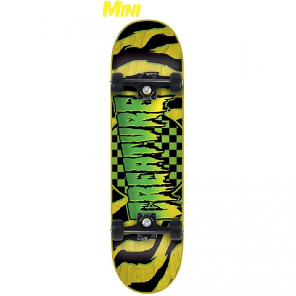 Creature Go home Mini Sk8 - Yellow - 7.0in x 29.2in - Complete Skateboard