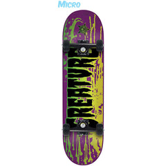 Creature Reverse Stain Micro Sk8 - Purple - 6.75in x 28.5in - Complete Skateboard
