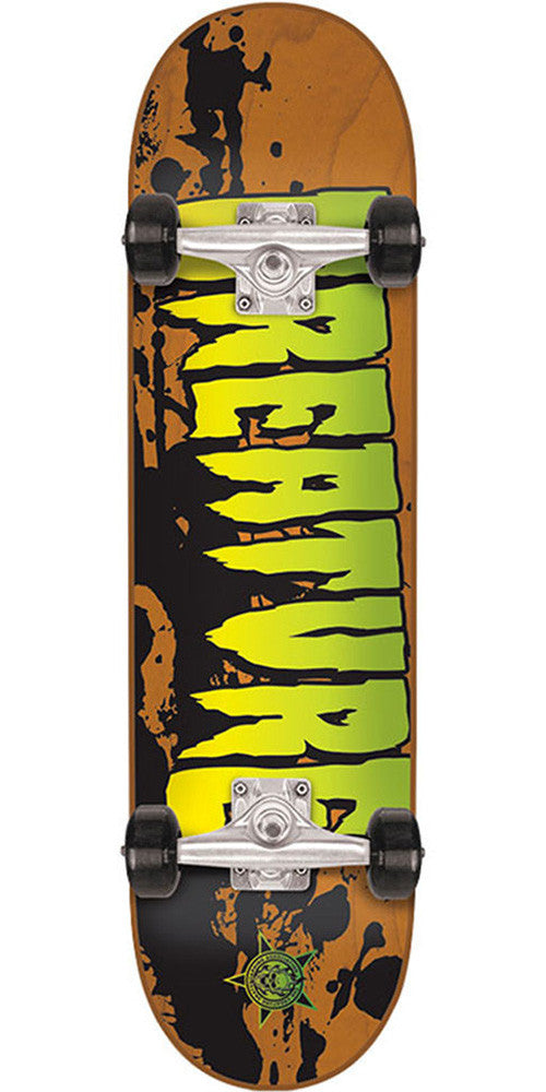 Creature Stained Micro Sk8 - Orange - 6.75in x 28.5in - Complete Skateboard