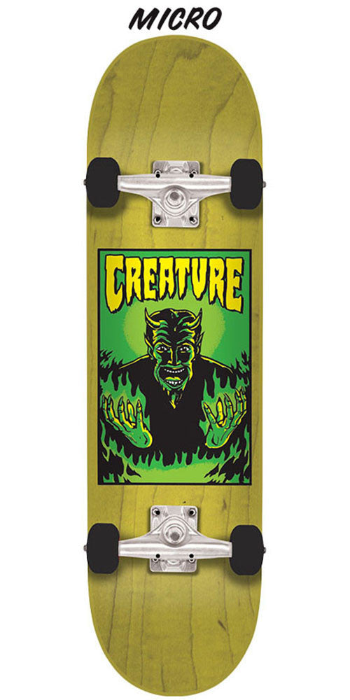 Creature Lil Devil Team Micro Sk8 - Yellow - 6.75in x 28.5in - Complete Skateboard