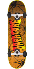 Creature Web Sk8 - Orange - 8.0in x 31.6in - Complete Skateboard