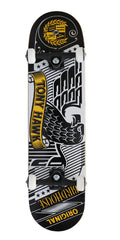 Birdhouse Tony Hawk Stamped - Black/White - 7.5 - Complete Skateboard