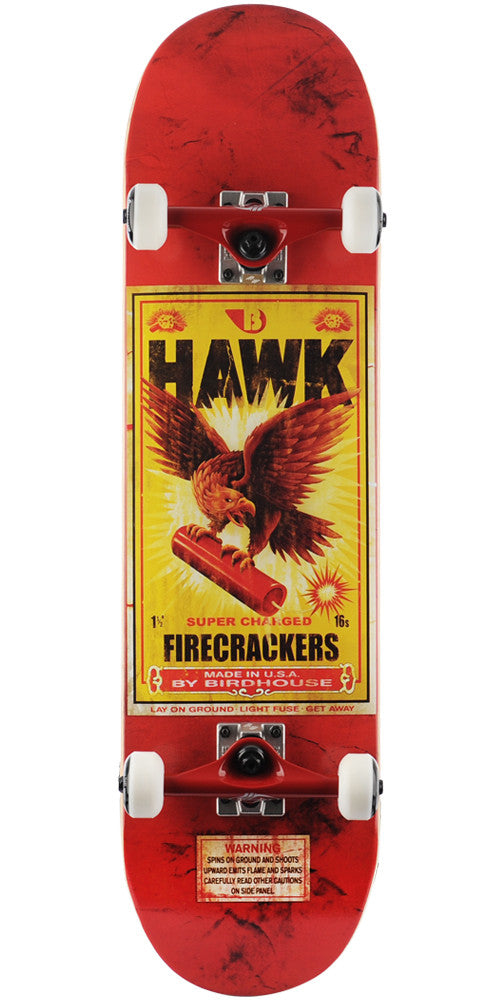Birdhouse Tony Hawk Firecracker - Red - 8.25in - Complete Skateboard