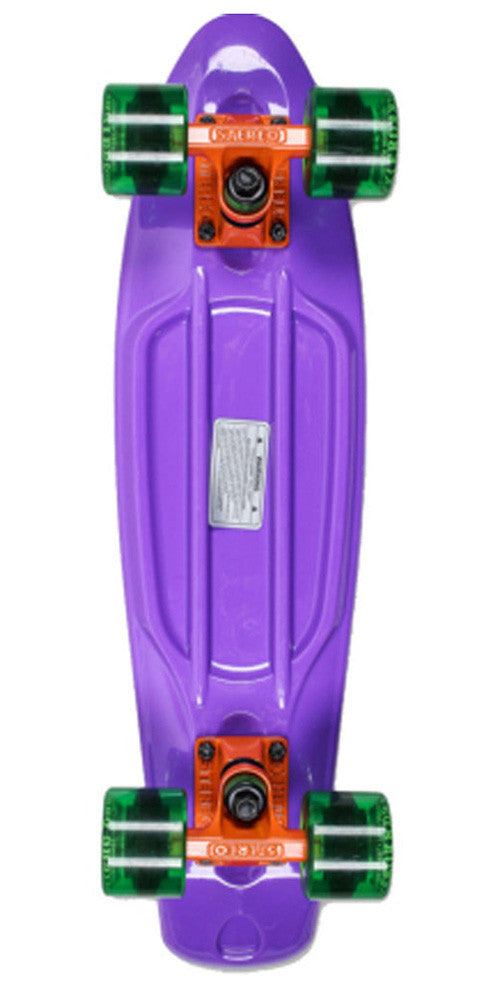 Stereo Vinyl Cruiser - Purple/Orange/Green - 6in x 22.5in - Complete Skateboard