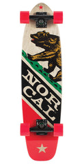 Nor Cal Republic Jammer Cruzer - Natural/Red - 8.0in x 31.2in - Complete Skateboard