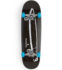 Crailtap Cruiser Large - Black/Blue - 9.25in x 32in - Complete Skateboard