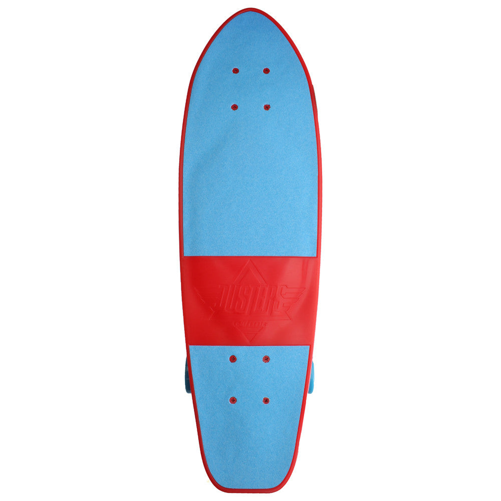 Dusters Mighty Cruiser - Red/Blue - 7.25in x 25in - Complete Skateboard