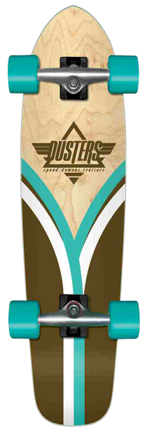 Dusters Flashback Cruiser - Natural/Blue - 28 - Complete Skateboard
