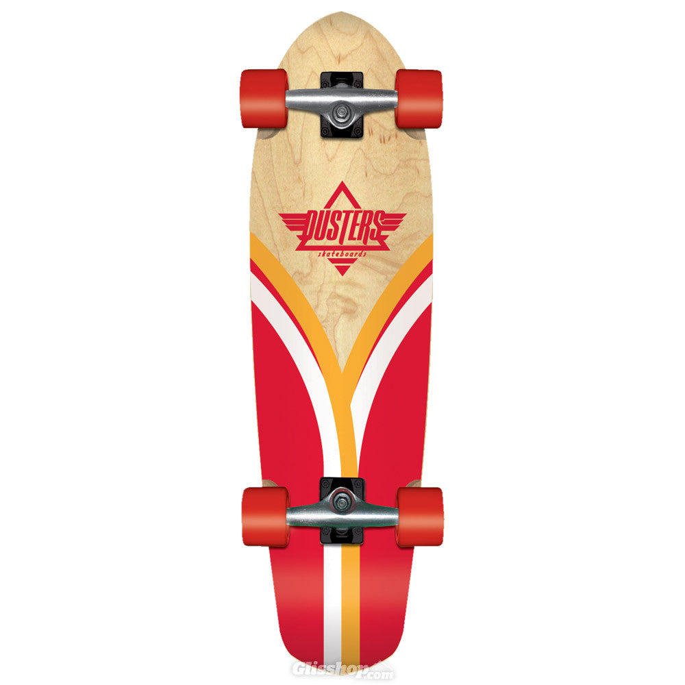 Dusters Flashback Cruiser - Natural/Red - 7.9in x 28in - Complete Skateboard