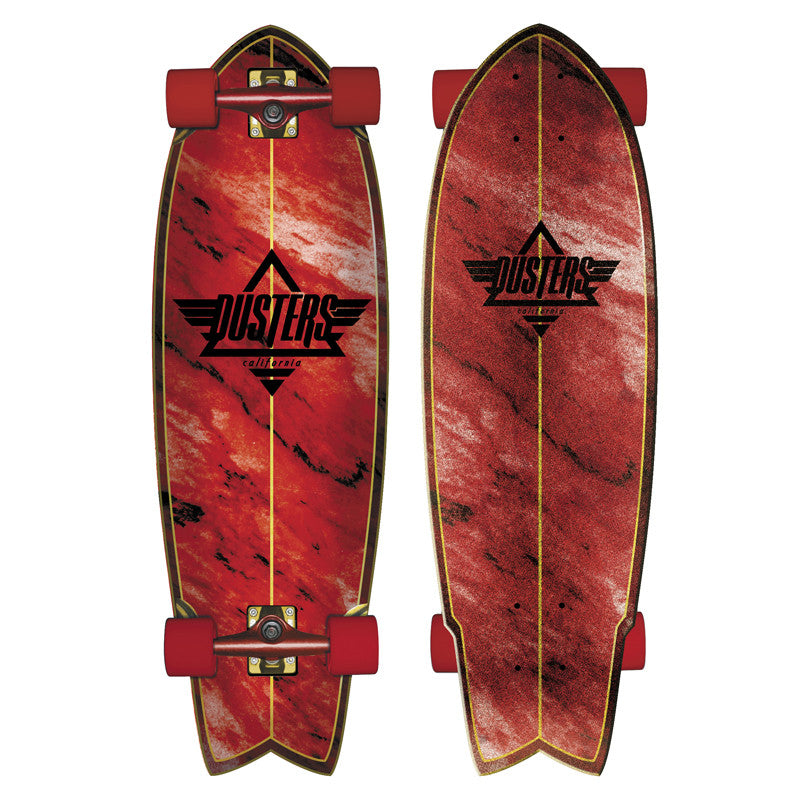 Dusters Kosher Cruiser - Red - 9.5in x 30in - Complete Skateboard