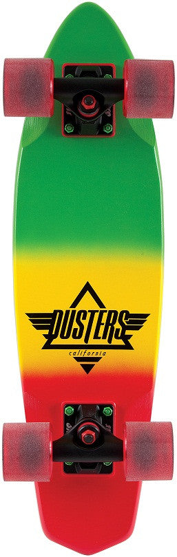 Dusters Ace Cruiser - Rasta - 6.5in x 24in - Complete Skateboard
