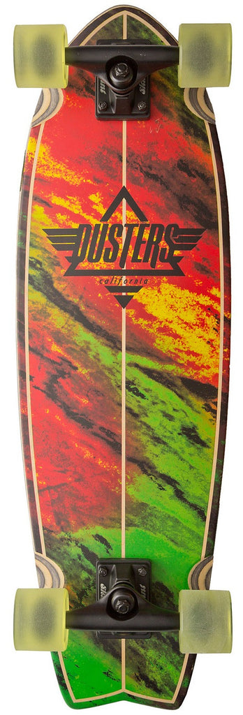 Dusters Kosher Cruiser - Rasta - 9.3in x 30in - Complete Skateboard