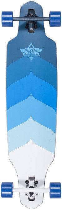 Dusters Wake - Kryptonic Blue - 9.4in x 38in - Complete Skateboard