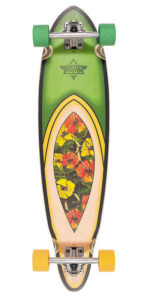 Dusters Fin Longboard Cruiser - Hawaiian - 35in - Complete Skateboard