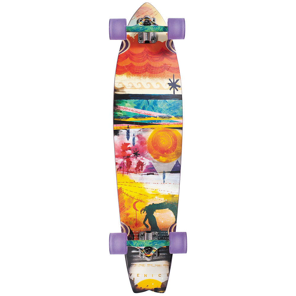 Dusters Jazzed Longboard - Multi - 37.0in - Complete Skateboard