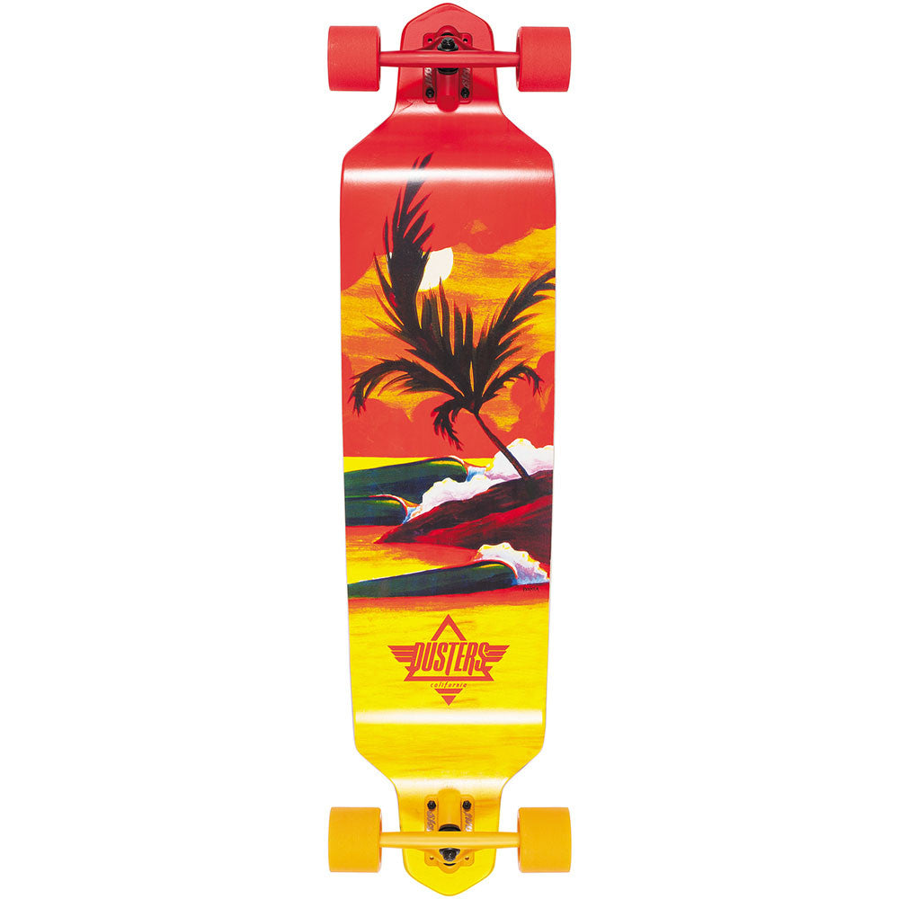Dusters Thirds Longboard - Red/Yellow - 41.25in - Complete Skateboard