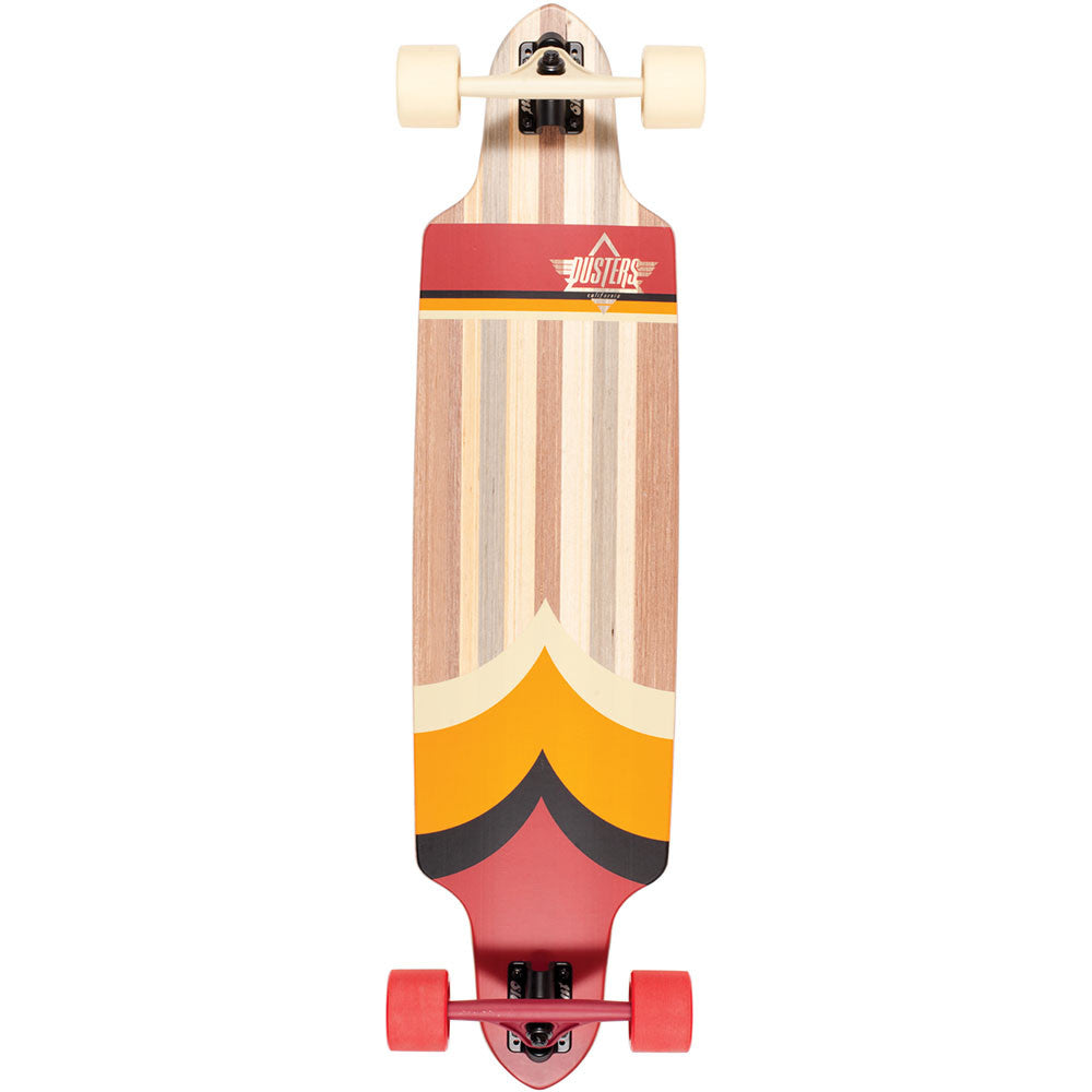 Dusters Totem Longboard - Red/Orange - 38.5in - Complete Skateboard