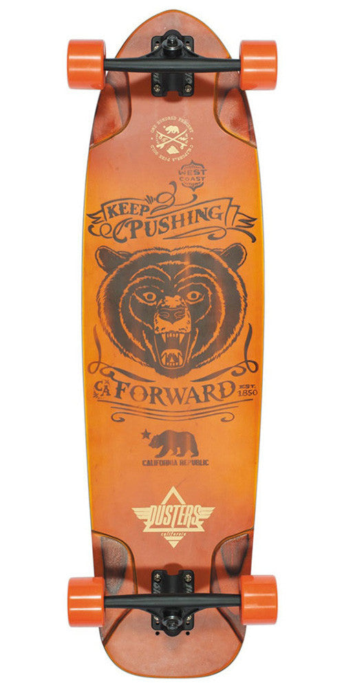 Dusters Kodiak Longboard - Sunburst - 36in - Complete Skateboard