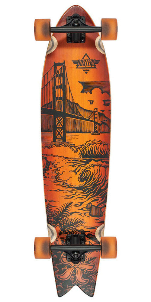 Dusters Golden Longboard - Sunburst Bamboo - 36.0in - Complete Skateboard