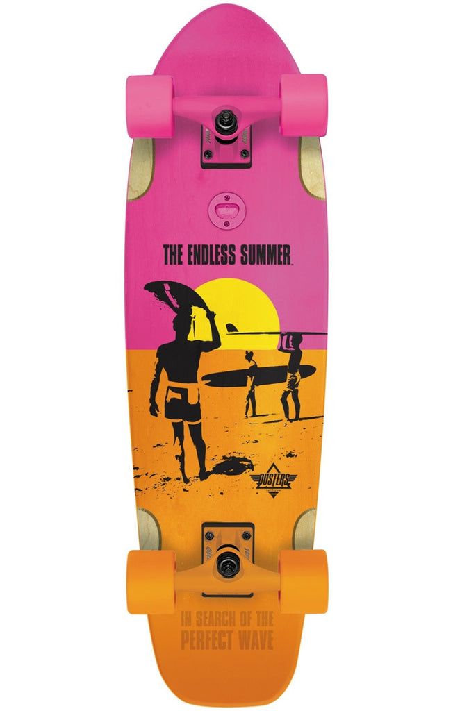 Dusters Endless Summer Bird - Yellow/Orange/Pink - 25.0in - Complete Skateboard