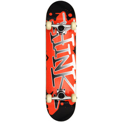 Think 'Spray Tag' Deck - Black/Orange - 7.7 - Complete Skateboard