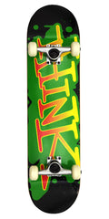 Think 'Spray Tag' Deck - Rasta - 8.0 - Complete Skateboard