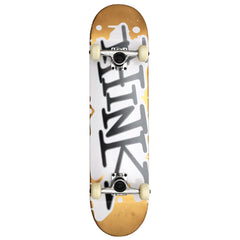 Think 'Spray Tag' Deck - Gold/White - 7.875 - Complete Skateboard
