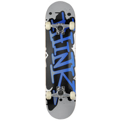 Think 'Spray Tag' Deck - Grey/Blue - 8.0 - Complete Skateboard