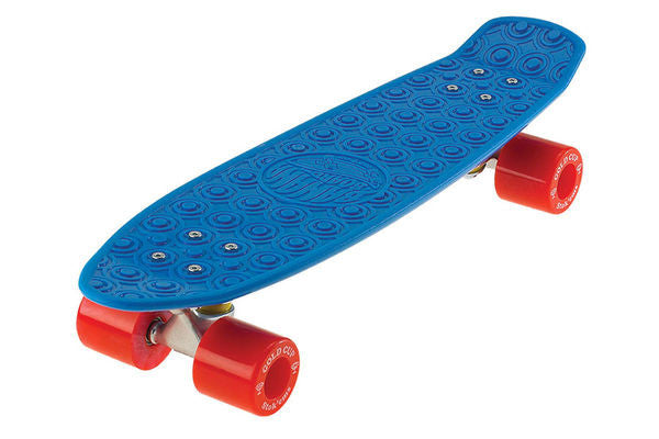 Gold Cup Banana Board Cruzer- Blue/Red - 6.0in x 23.25in - Complete Skateboard