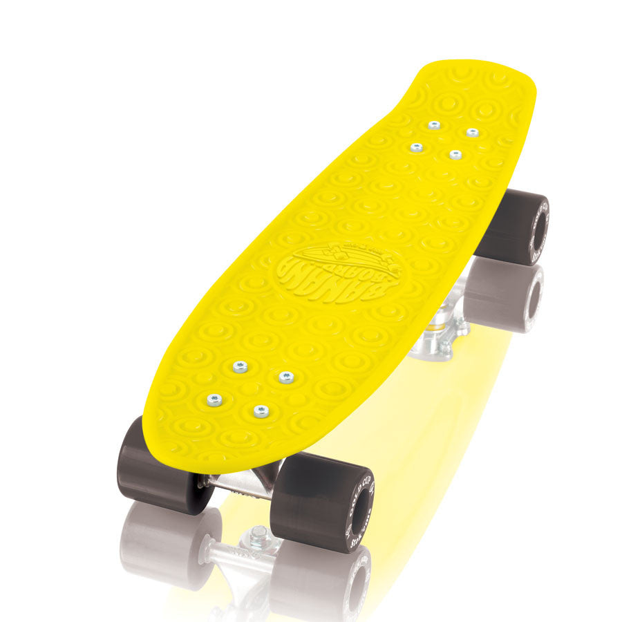 Gold Cup Banana Board Cruzer - Yellow/Black - 6.0in x 23.25in - Complete Skateboard