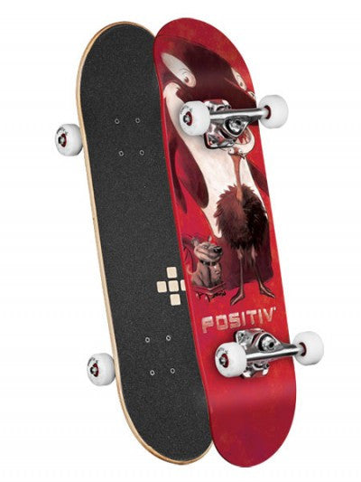 Positiv Team Animal King Dipped - Red - 7.5 - Complete Skateboard