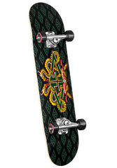 Powell Celtic Dragon 3 - Black/Yellow - 7.5in x 31in - Complete Skateboard
