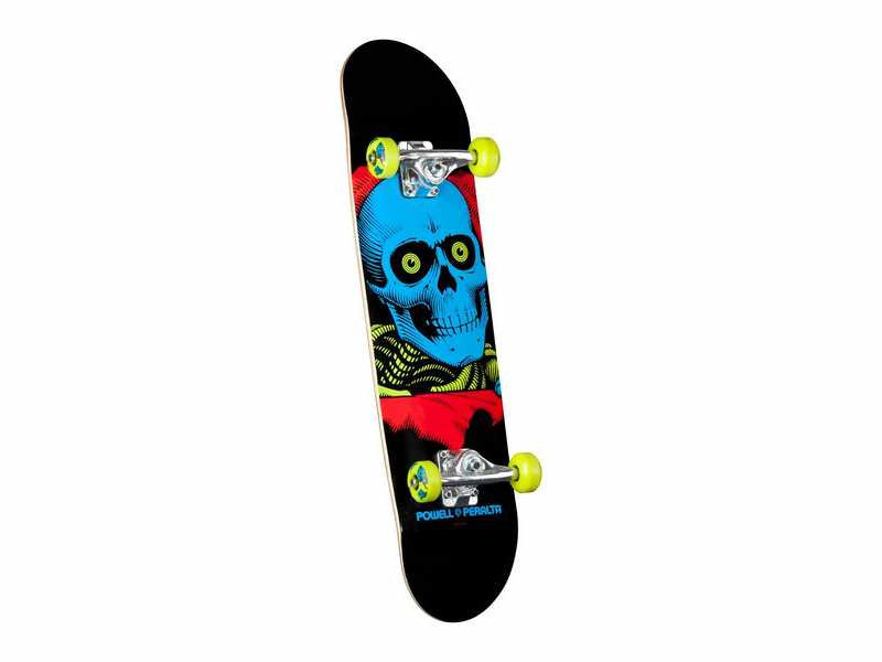 Powell-Peralta Blacklight Ripper - Black - 7.75in x 31.75in - Complete Skateboard