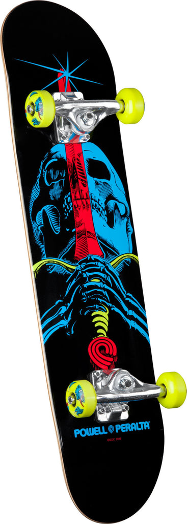 Powell-Peralta Blacklight Skull & Sword - Black - 7.5in x 31.375in - Complete Skateboard