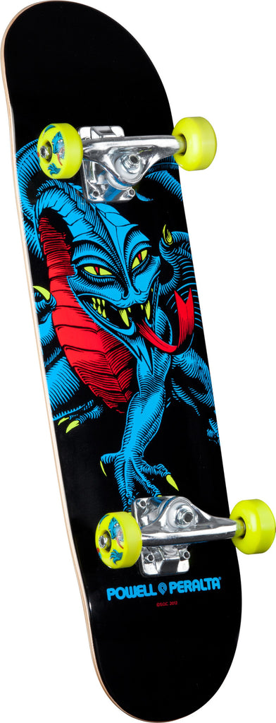 Powell-Peralta Blacklight Caballero Dragon - Black - 7.5in x 28.65in - Complete Skateboard