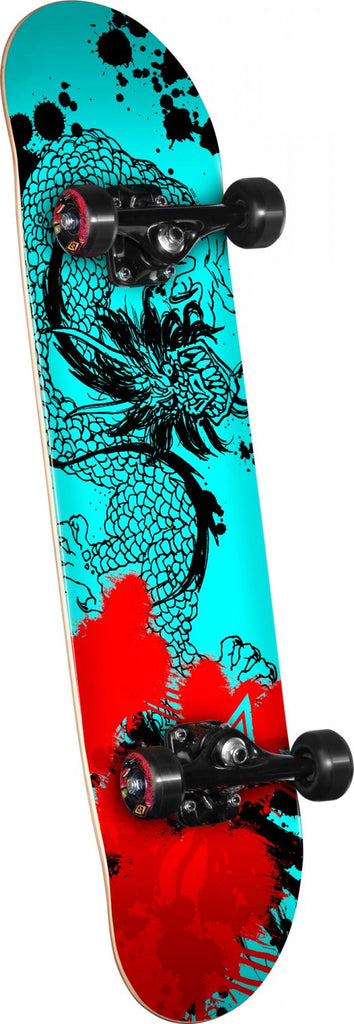 Powell-Peralta Samurai Dragon III - Teal/Red - 7.75in x 31.75in - Complete Skateboard