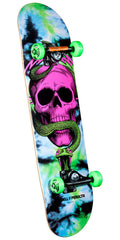 Powell Peralta Skull and Snake - Tie Dye - 8.0in x 32.125in - Complete Skateboard