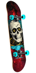 Powell Peralta Ripper - Cosmic Red - 8.0in x 32.125in - Complete Skateboard