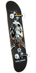 Powell Peralta Skull and Sword - Grey - 7.88in x 31.67in - Complete Skateboard
